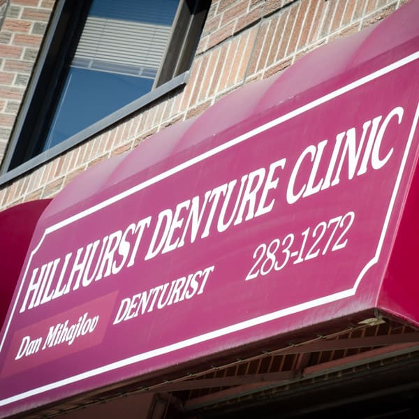 Hillhurst Denture Clinic sign